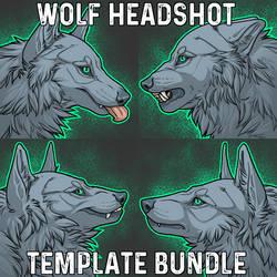 Wolf Headshot Template Bundle