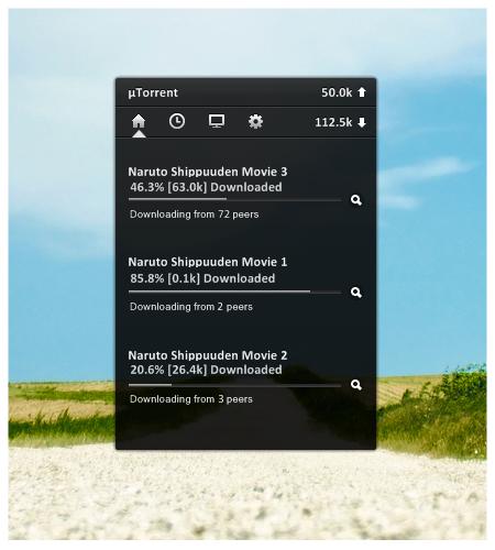 HUD uTorrent for Rainmeter by nardoxic