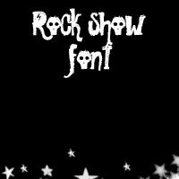 rock show font by onlmileyrcyrus