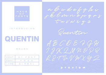 [10] : quentin by HausOfFonts