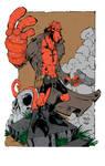 Hellboy ink flats