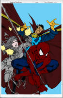 avenging spider-man cover flats by FlattSquat