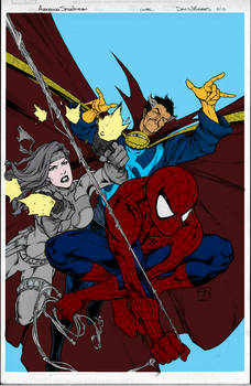 avenging spider-man cover flats