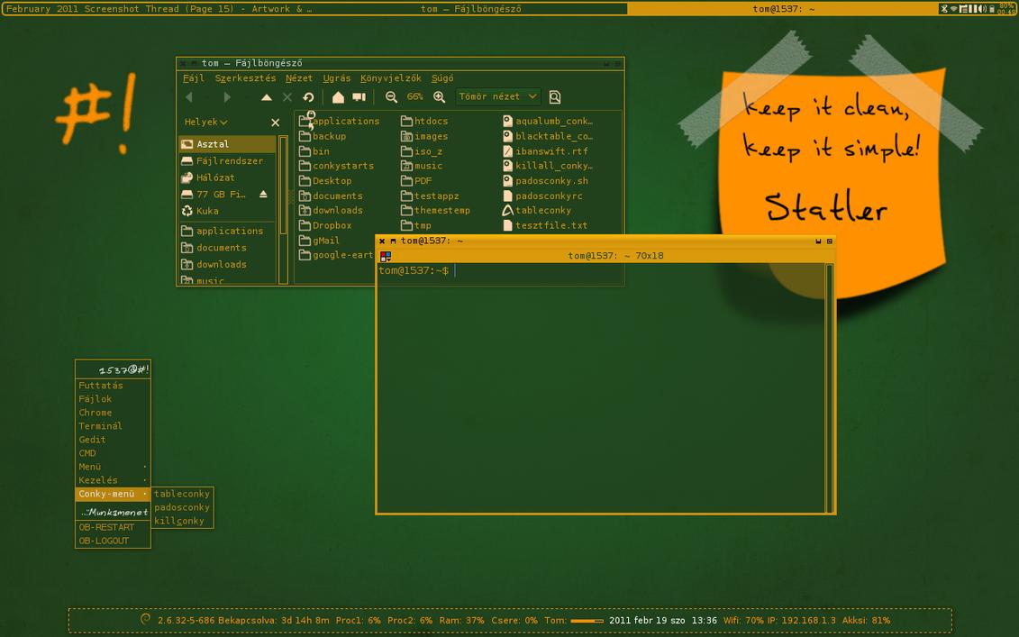 Google gmail terminal theme - Statler Blackboard Theme By Taklertamas