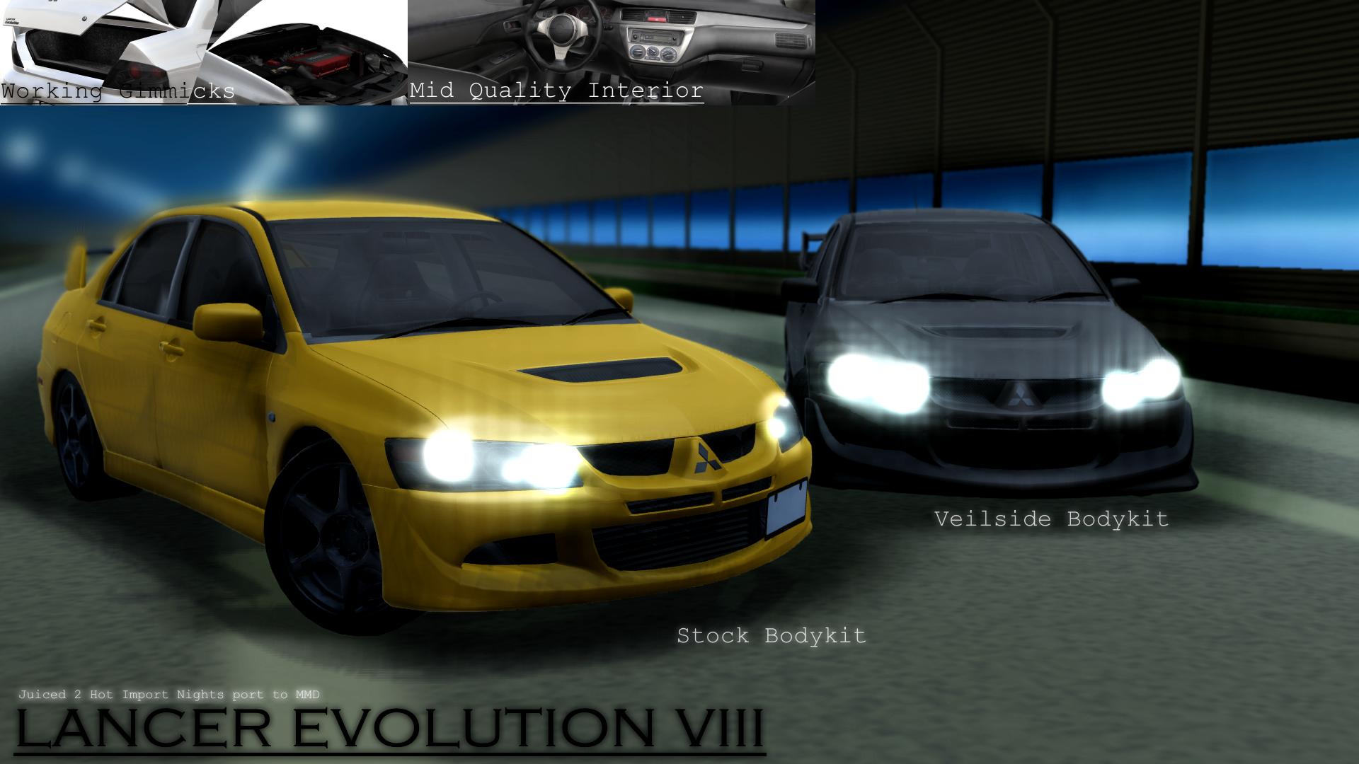 MMD Mitsubishi Motors - Lancer Evolution VIII by MGZweiis