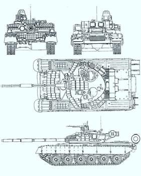 Russian T-80 CS3 Brush