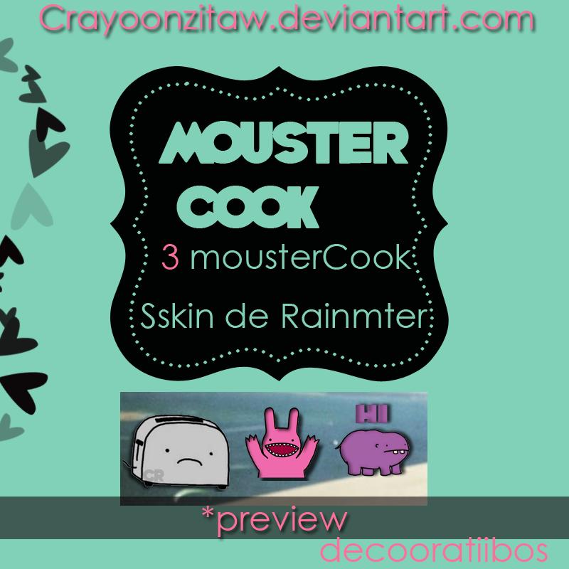MousterCOOKS skin de Rainmeter by CrayoonzitAw