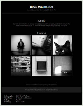 Black Minimalism Journal Skin