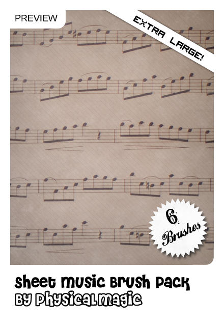 Sheet Music Brush Pack. by PhysicalMagic