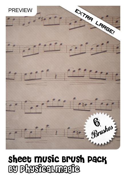 Sheet Music Brush Pack. by PhysicalMagic