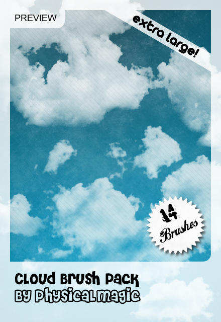 Cloud Brush Pack. by PhysicalMagic