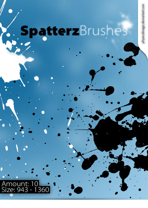 Spatterz Brushes by PhysicalMagic