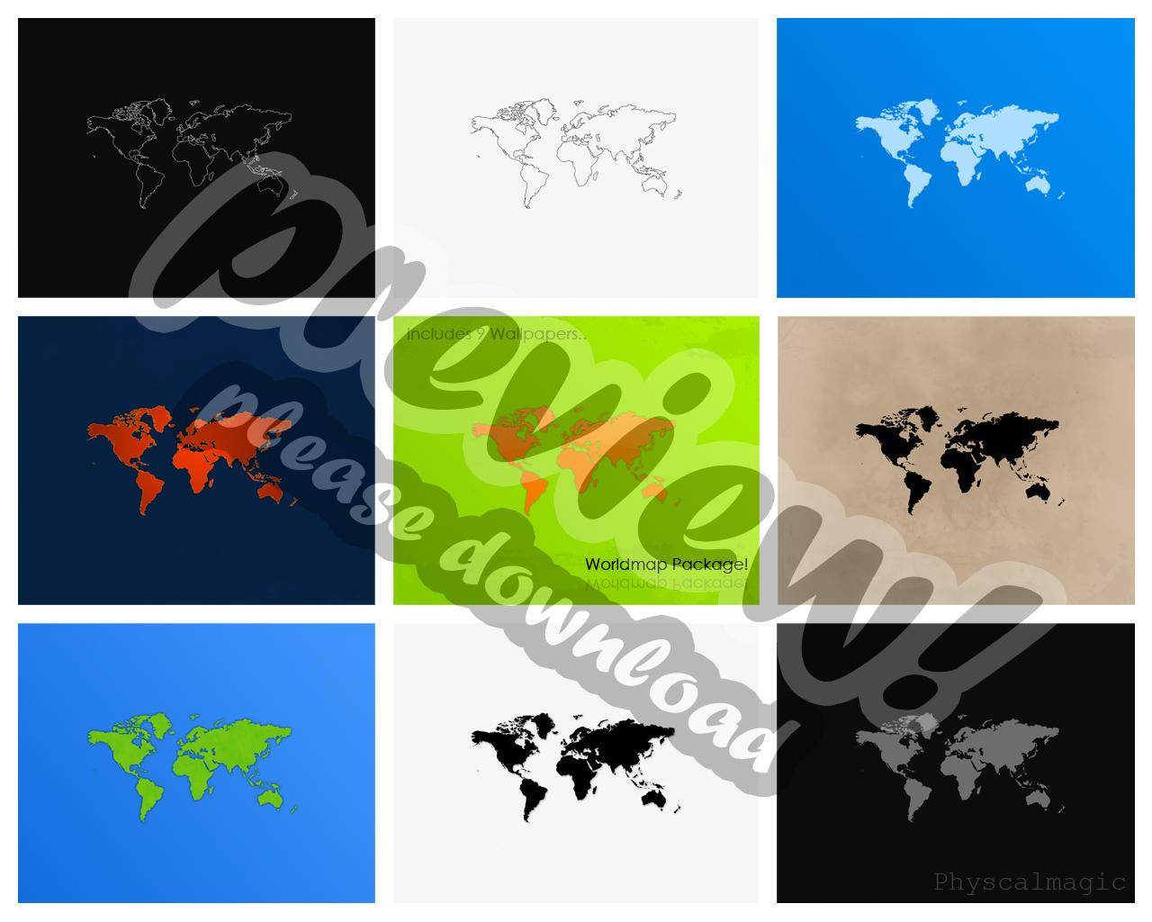 Worldmap Pack by PhysicalMagic