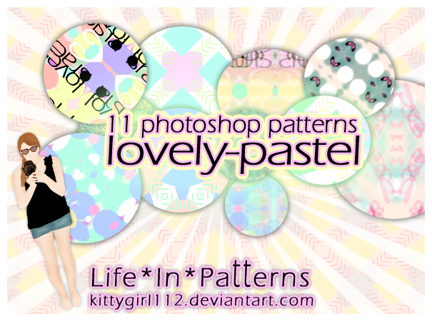 Photoshop patterns set LovelyPastel by NicoleHerskowicz