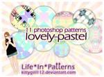 Photoshop patterns set LovelyPastel