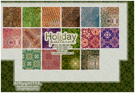 HOLIDAY012 patterns by NicoleHerskowicz