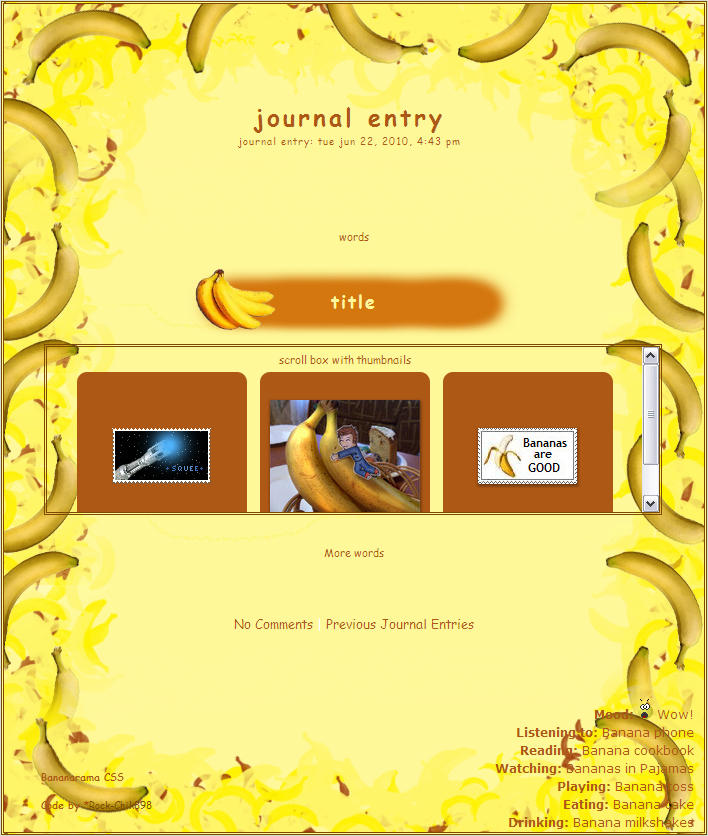 Bananarama Journal Skin by CrimsonReach