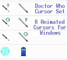 Doctor Who Cursor Set by CrimsonReach