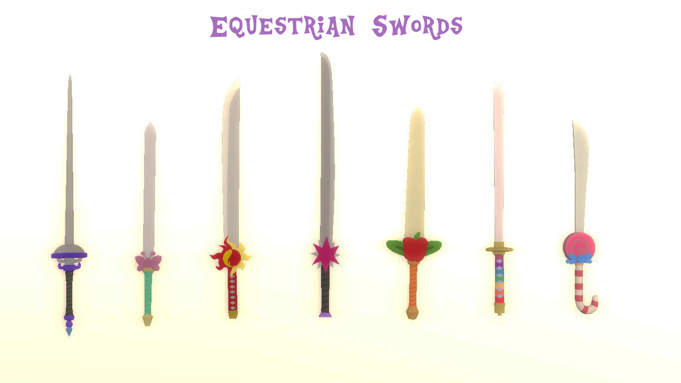 [DLC] Equestrian Swords by Blackbelt2297