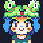 Frog Head (hair?) Girl [ animated ] by HNniner