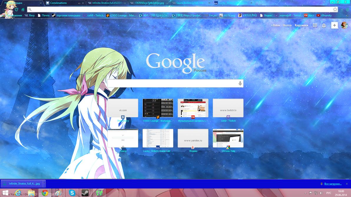 Google chrome theme infinite stratos - Infinite Stratos Theme Charlotte By Alixsizaff