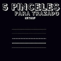 5 Pinceles Brushes PHOTOSHOP trazado by Esponjitha
