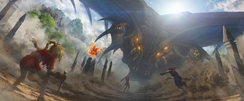 Cross Symphonic - Dragon God Process Animation by Rowye
