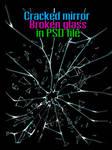 Cracked mirror, Broken glass (STOCK)