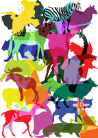 wild animals shapes by shmizlicka
