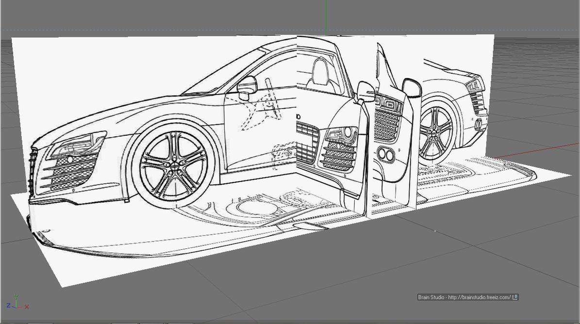 BluePrints of Audi R8 by Brain-Studio on DeviantArt