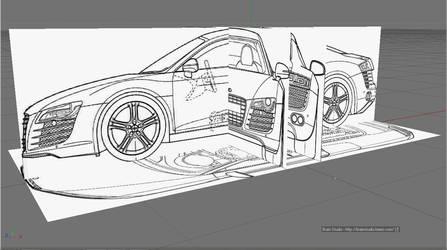 BluePrints of Audi R8