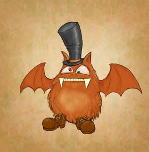 An orange bat.