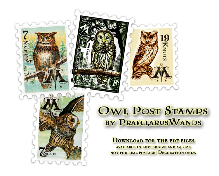 Owl Post Stamps By Praeclaruswands On Deviantart