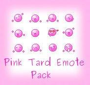 Pink Tard Emote Pack by Obake-no-Kage