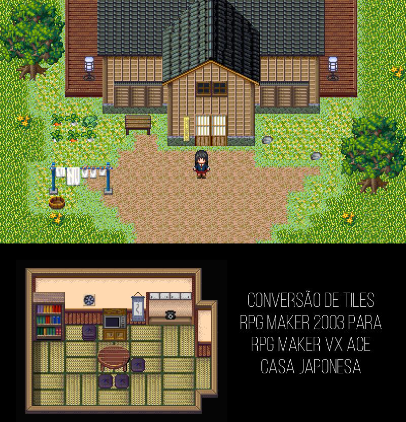 Tilesets FSM RM2K3 para VX/Ace: Casa Japonesa by milkian