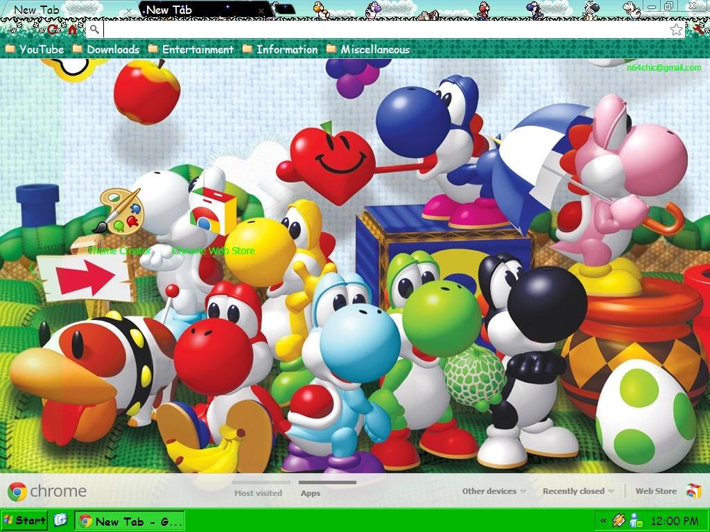 Google themes - N64chick 2 0 Yoshi Google Chrome Theme By N64chick