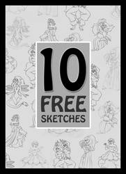 10 Free Sketches - 9 of 10 by Paola-Tosca