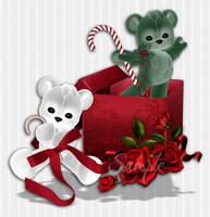 Christmas Box And Bears by PhotoImpactPixels
