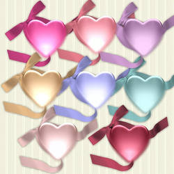 8 Hearts and Bows by PhotoImpactPixels