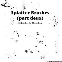 Splatter Brushes 2 by sd-stock