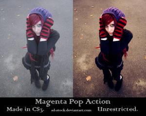 Magenta Pop Action