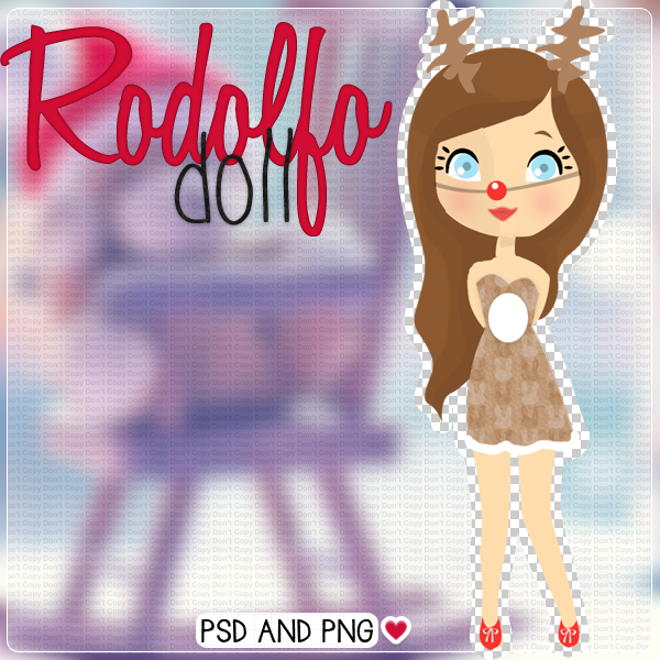 Rodolfo doll:) - .psd and .png by HillyTutorials