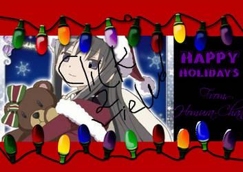 Happy Homura Holidays by xTheGreenLightx