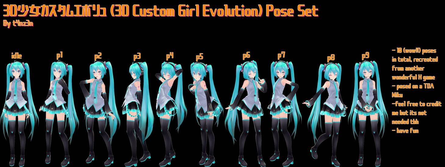 custom girl 3d evolution