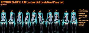 [DL] 3D Custom Girl Evolution Pose Set