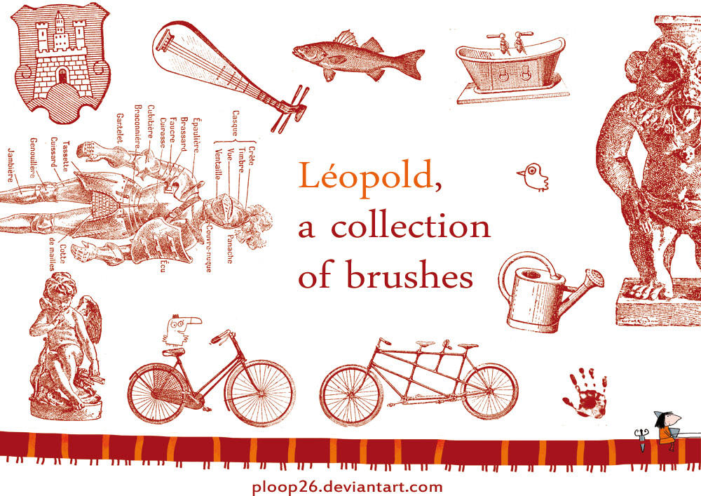 Vintage Leopold, brushes by nicolas-gouny-art