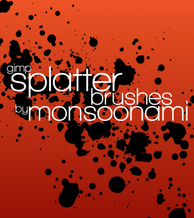 GIMP Splatter Brushes by monsoonami