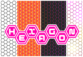 hexagon pattern by monsoonami