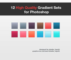 High Quality Gradient Set for Photoshop - Set 1 by ShadarL