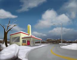 Day Highway Scene